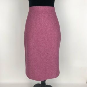 J.Crew NO 2 PENCIL SKIRT Donegal WOOL Size 6 Pink
